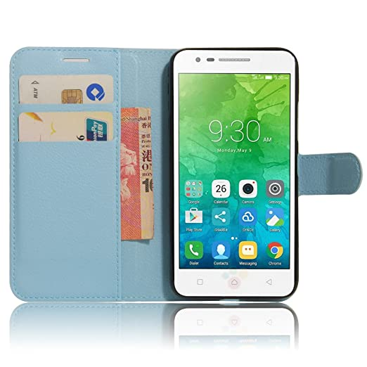 2 opinioni per lenovo VIBE C2 Custodia, SMTR lenovo VIBE C2 Wallet Case Cover Leather Flip