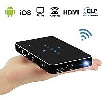 Haidiscool P1 100-Lumens DLP Portable Projector (Black)