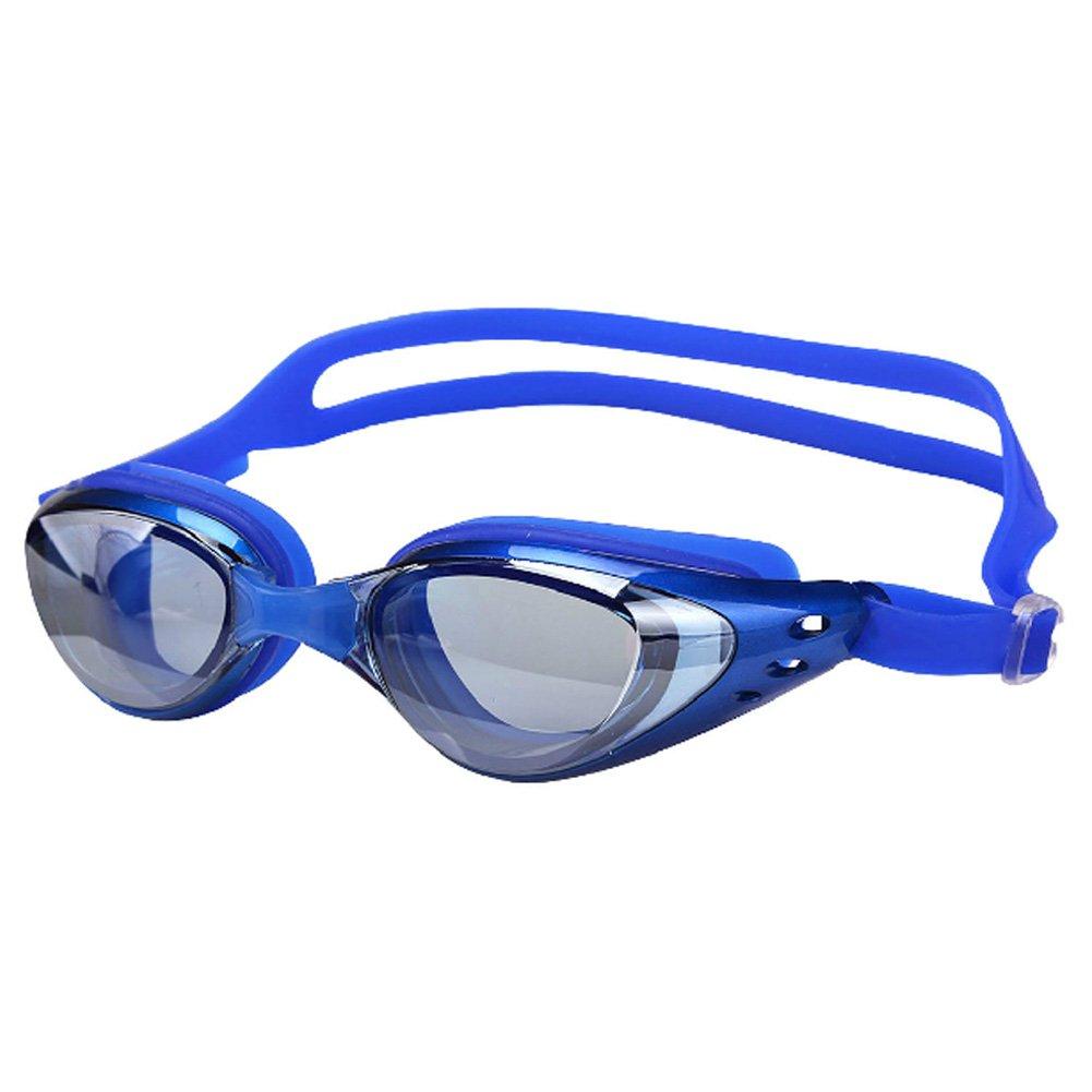 Coostyle防水曇り止めUV保護PlainグラスSwim Goggleメンズレディース  ブルー B00YGMYEUK