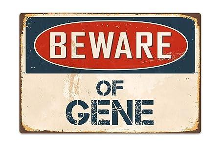SALWON Beware Gene Christmas Men -Cartel De Chapa ...