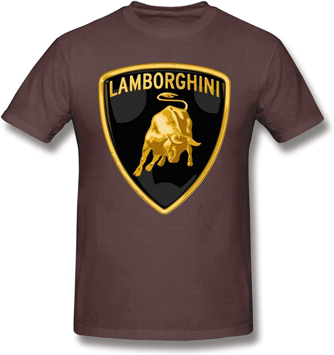 DavidBill T-Shirt for Men Lamborghini Logo Short Sleeve Tee