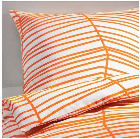 Ikea Odestrad Parure De Lit En 3 Tailles Erable Orange