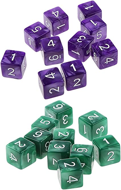 20x D6 Polyhedral Dice for  Table Games Gray Coffee