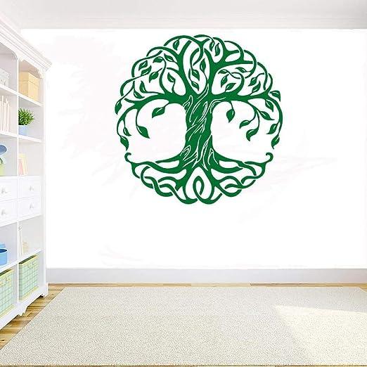 Mandala Adhesivos de pared de árbol redondo Yoga Studio ...