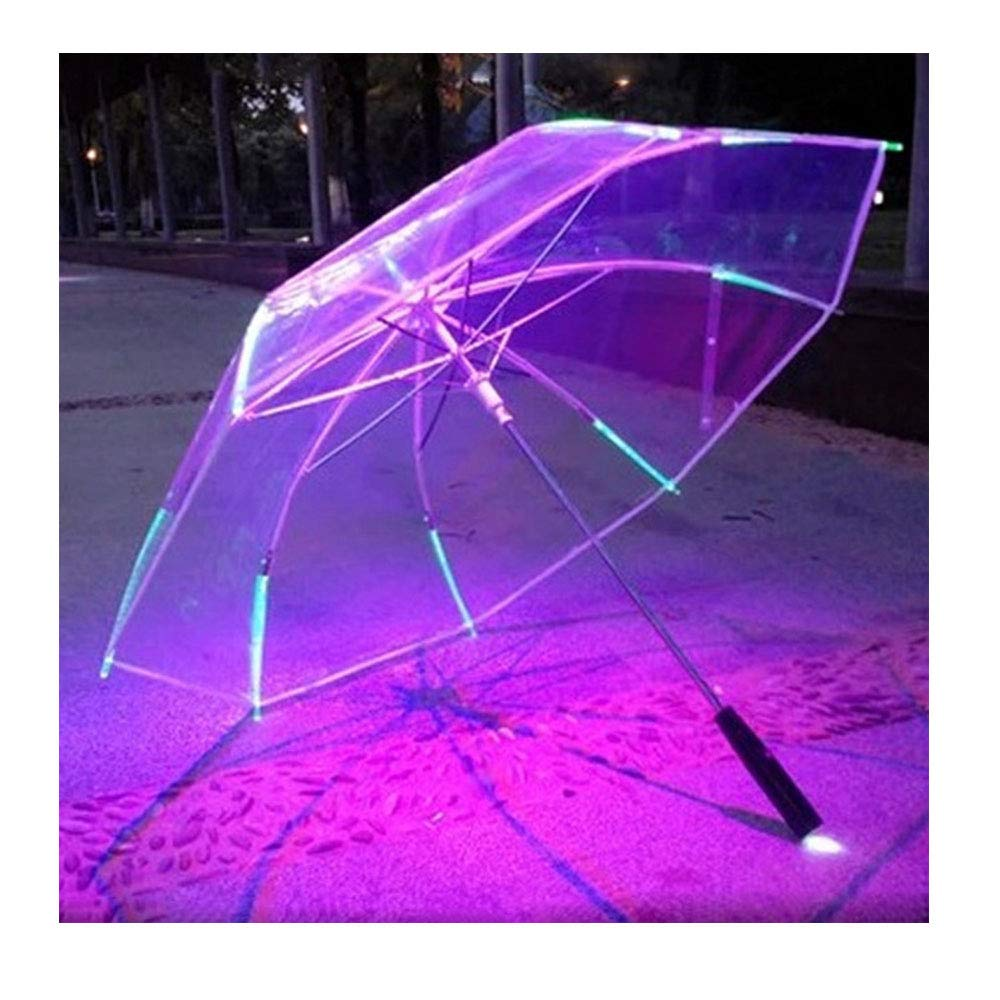 LED Umbrella Golf Umbrella with 7 Colors Changing On The Shaft/Built in Torch on Bottom