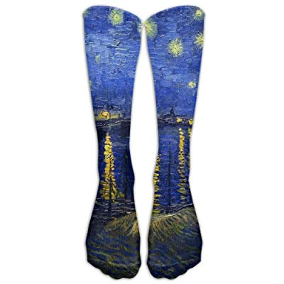 High Boots Crew Gogh Starry Night Compression Socks Comfortable Long Dress For Men Women