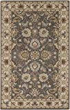Surya Caesar CAE-1005 Classic Hand Tufted 100% Wool Charcoal Gray 2'6'' x 8' Traditional Runner