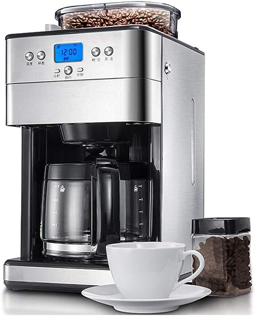 Cafetera Oficina Hogares Granos en polvo de gran capacidad Molienda de doble propósito American Drip Máquina de café completamente automática 1.8L: Amazon.es: Hogar