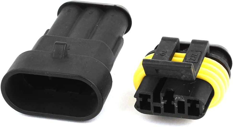 uxcell 10 Set 3 Pin Waterproof Connector 3 Way Car Scooter ATV UTV RV