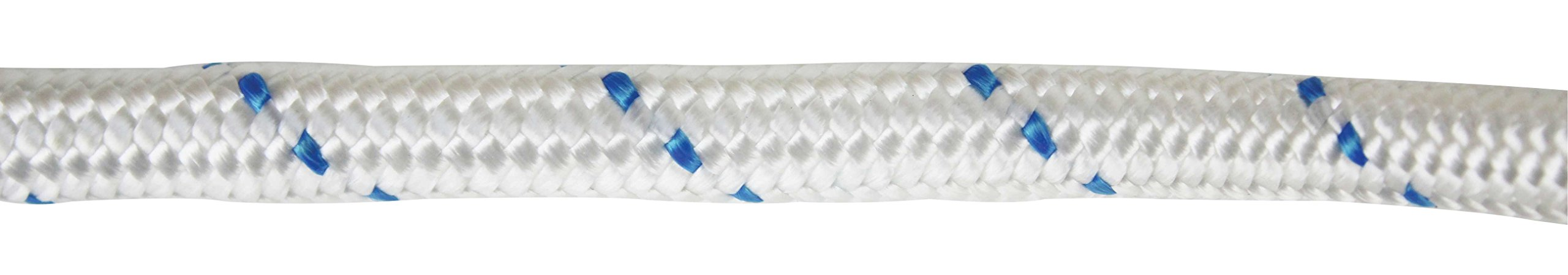 Extreme Max 3006.2547 White w/Blue Tracer 3/4'' x 600' BoatTector Double Braid Nylon Anchor Line with Thimble by Extreme Max (Image #3)