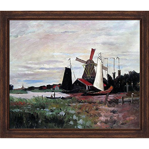 Windmill at Zaandam II by Monet Copper Sweep Frame