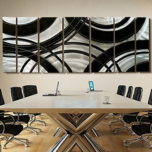 Extra large modern contemporary black and silver large for Modern silver home accessories