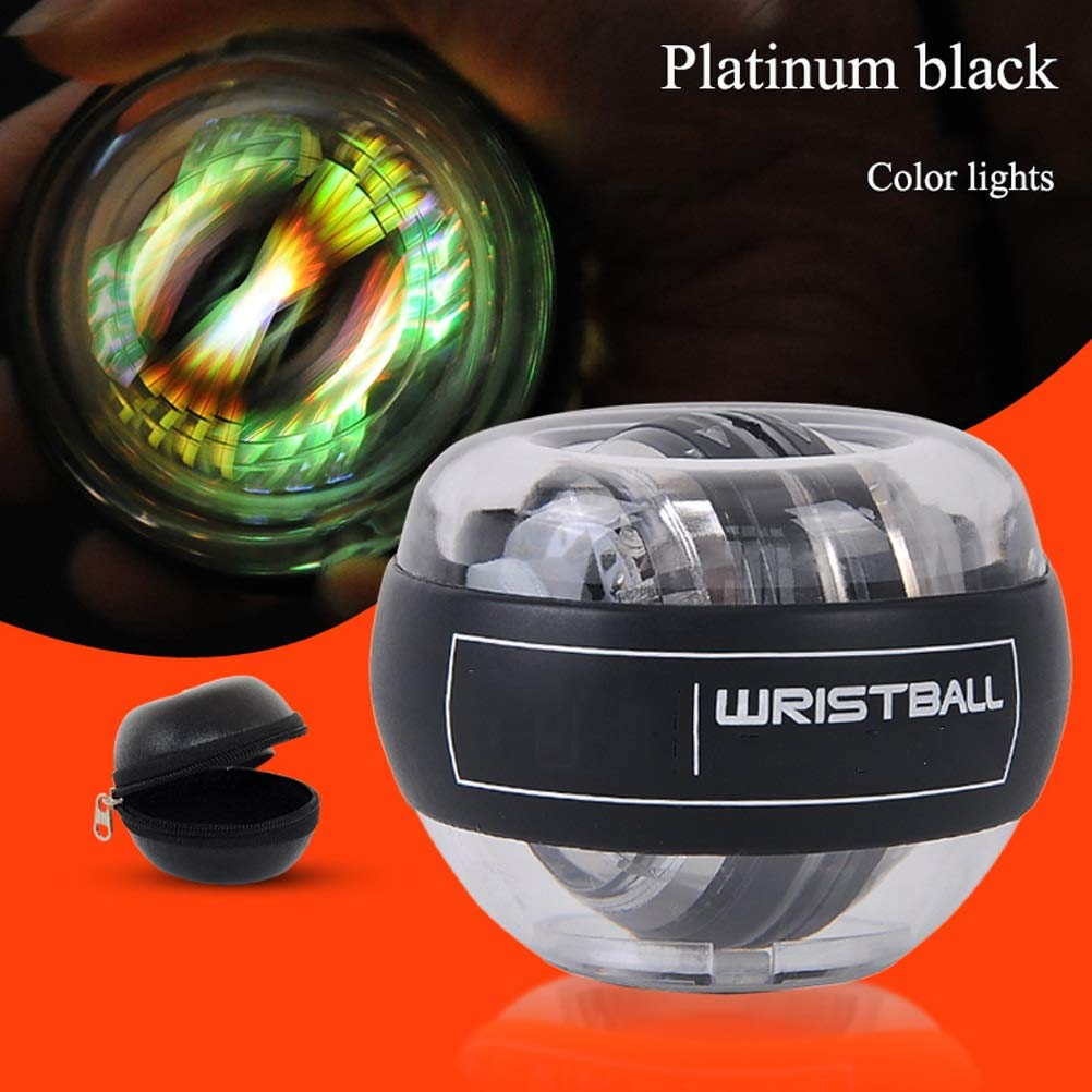 WMM - Wrist ball Supernova Models Gyroscopes - Wrist Strengthener, Grip Strengthening Gyro Ball (Color : Platinum Black) by WMM - Wrist ball