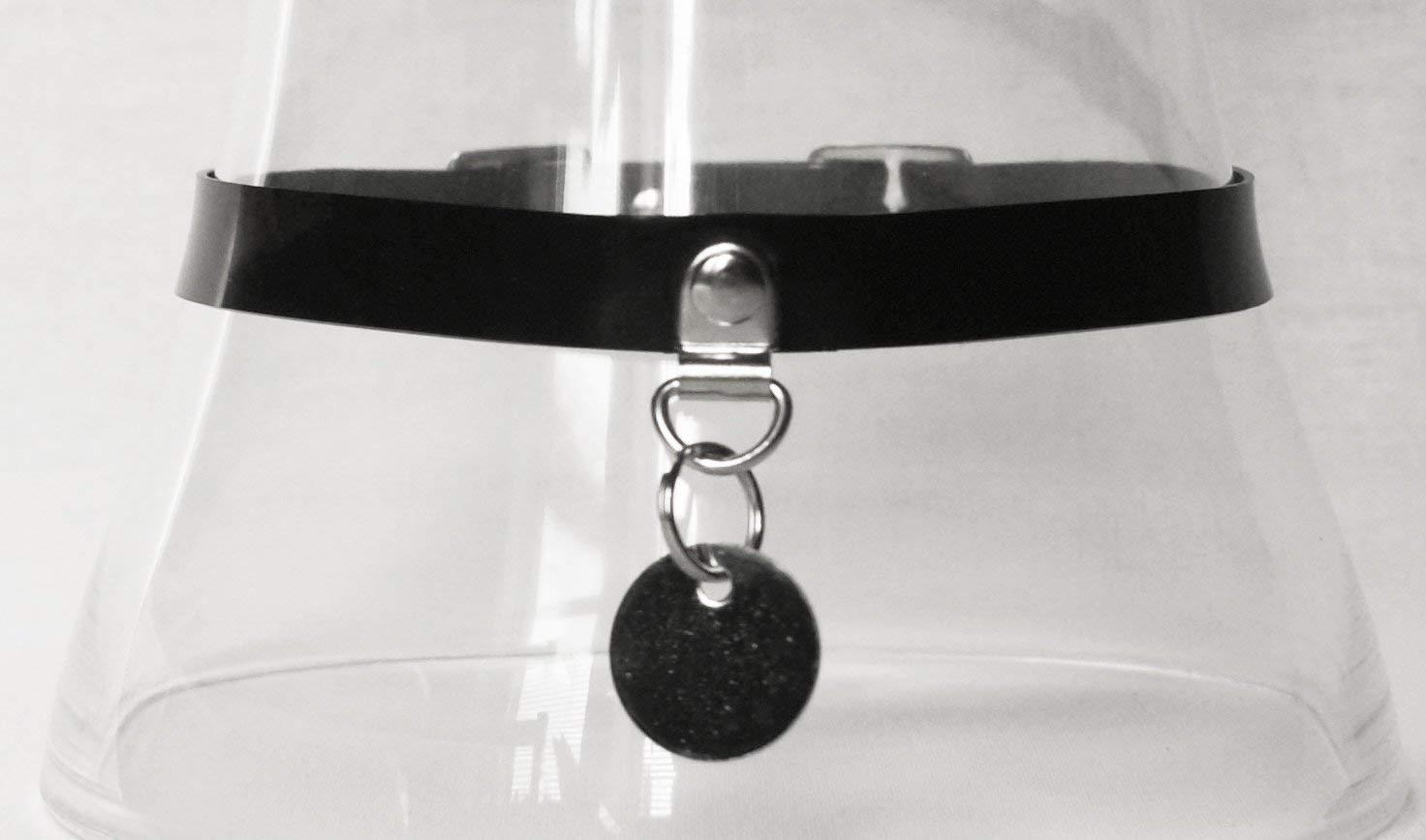 Slim Latex Collar or Baby Pink Handmade in the UK Plum Black Red White