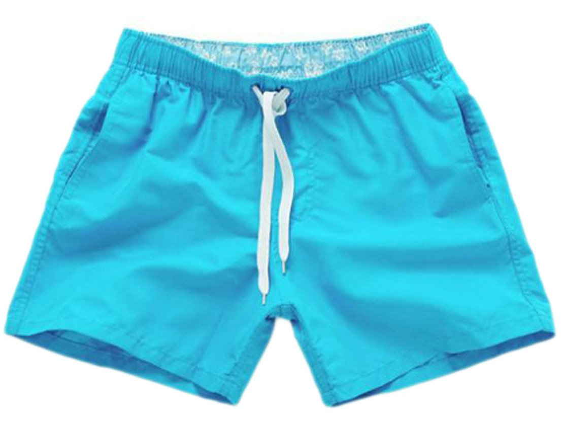 Pcutrone Mens Comfy Drawstring Elastic Waist Surf Beach Board Shorts