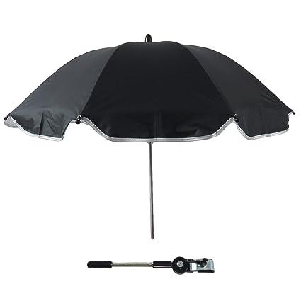 Gosear Sombrilla Silla Paseo Universal, Cochecito Paraguas sombrilla Parasol para Sillita de bebé protección UV