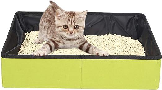Fushida - Caja de arena portátil plegable para gatos pequeños, medianos y grandes, fácil de llevar M: Amazon.es: Hogar