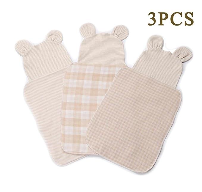 3 Pack algodón orgánico toalla de toallas de babero de hombro para de gamuza 22 x cm alimentación Enfermería bebé por ocupado mamá: Amazon.es: Ropa y ...