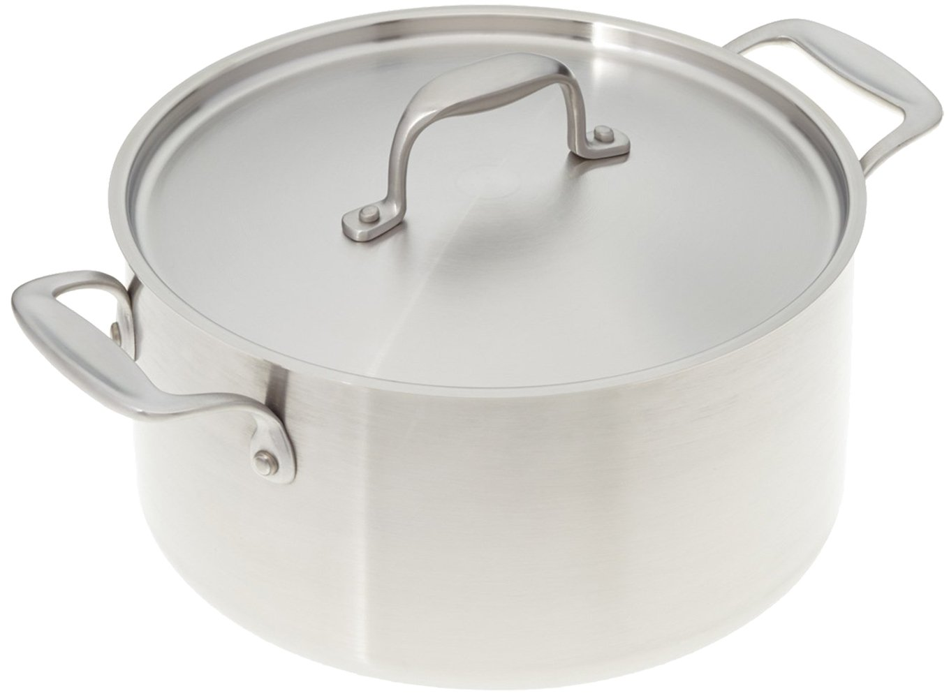 Stainless Steel Cookware - American Kitchen 6-Quart Stainless Steel Stock Pot - Superior Heat Conductivity - Tri-Ply Construction -Made in the USA