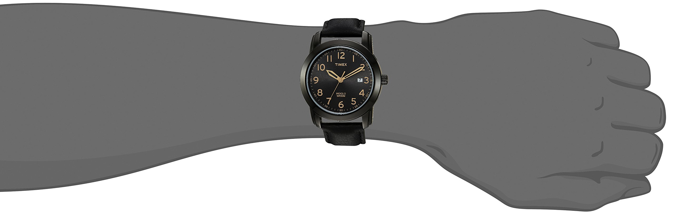 Timex Men's TW2R29800 Highland Street Black Leather Strap Watch by Timex (Image #4)
