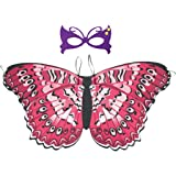 Radish Stars Costume Girls Butterfly Wings Cloak Mask Set Beach Fairy Shawl Festival Rave Dress Halloween