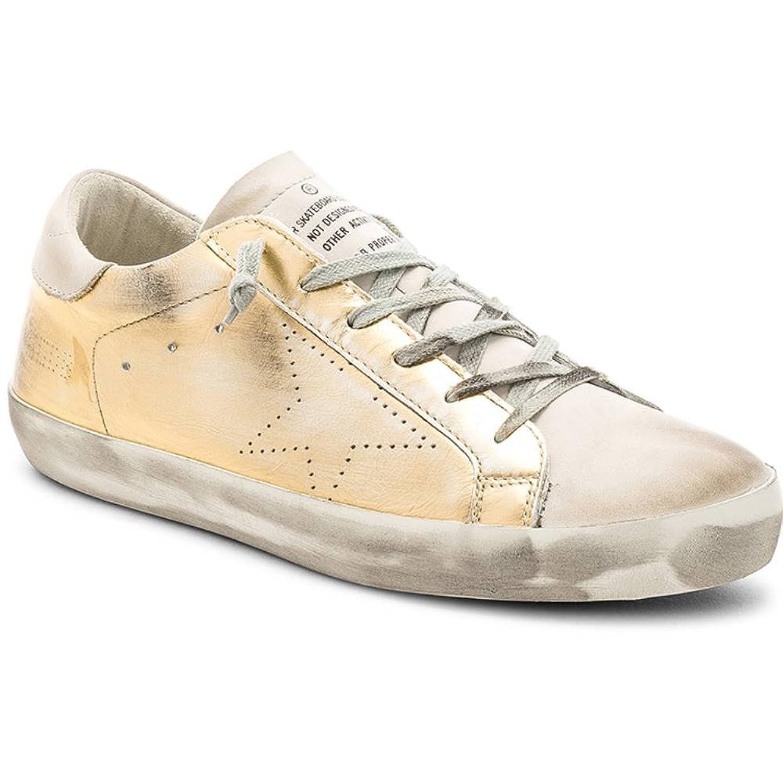 (ゴールデン グース) Golden Goose メンズ シューズ靴 スニーカー Leather Superstar Sneakers [並行輸入品] B07F787QWQ