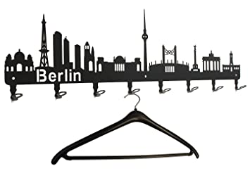Perchero Berlin - Skyline - Perchero de Pared de Metal 80 cm ...