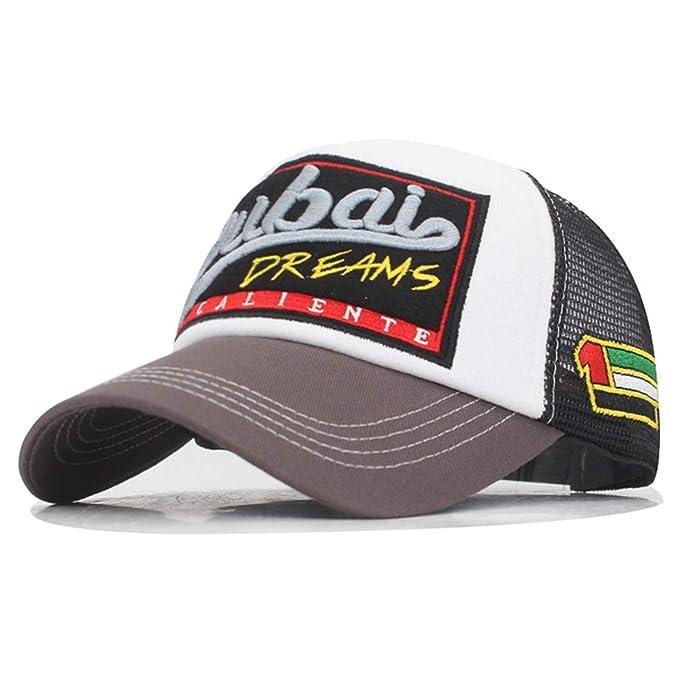 22df750929b1c Amazon.com  LONIY New Men Baseball Cap Embroidery Summer Mesh Cap Hats for  Men Women Snapback Casual Cap Dad Baseball Hat  Clothing