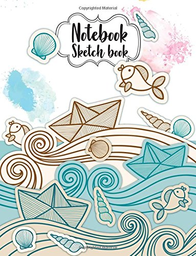 "Read Online Notebook Sketchbook: : Paper Book for Sketching, Drawing, Journaling & Doodling (Sketchbooks), Perfect Large size at 8.5"" x 11"", 120 Pages, ( Animal Sea Cartoon Cover ) pdf"