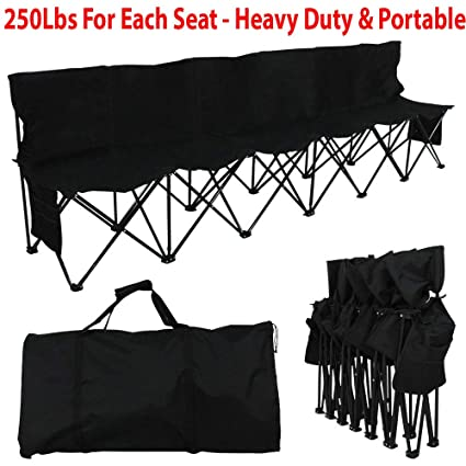 Cool Amazon Com Highhoop 250Lbs Heavy Duty Portable 6 Seater Dailytribune Chair Design For Home Dailytribuneorg