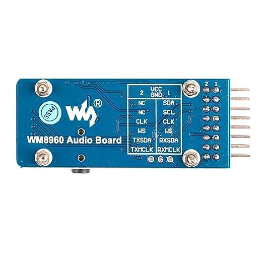 Innovateking-EU WM8960 Tablero de Audio del módulo de Audio Stereo Codec Amplifier Board para Bricolaje, Reproducir/Grabar: Amazon.es: Electrónica