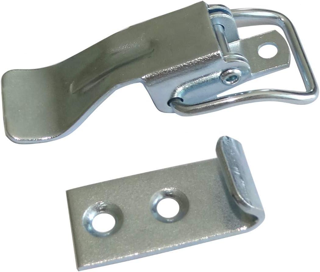 2 x Schnappverschluss Federverschluss Kippverschluss W21 mm L76,5 mm f/ür Schubladenboxen M/öbelboxen C42277 Aerzetix