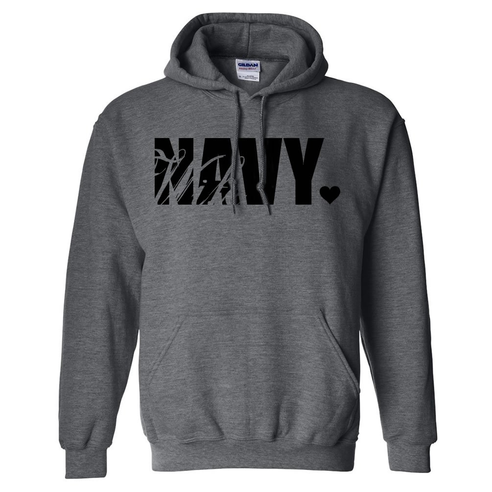 Navy Wife Hooded Sweatshirt PA-1597