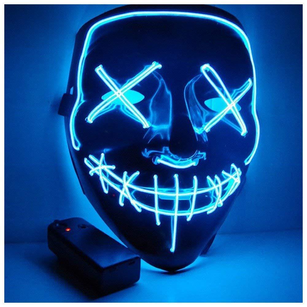 Kaliwa LED Máscaras Halloween, Halloween Mascaras, Craneo Esqueleto Mascaras, para Navidad /Halloween /Cosplay /Grimace Festival /Fiesta Show /Mascarada, Alimentado por batería (no Inclu