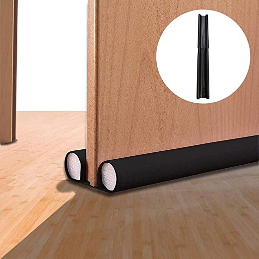doble cara 93 cm lavable Burlete de puerta para puerta con cierre de aire doble antiruido