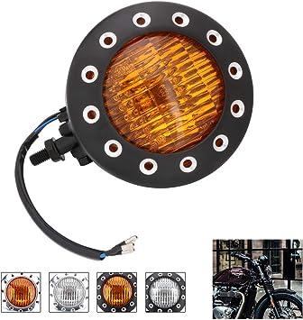 Retro Old School Drilled LED Tail Light Lamp For Harley Bobber Cafe Racer XS650