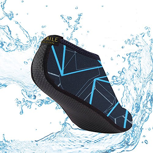 Sitaile Waterschoenen, Heren Womens Sneldrogend Water Zwemmen Schoenen Aqua Sokken Voor Strand Zwemmen Surfen Yoga Oefening Blauw