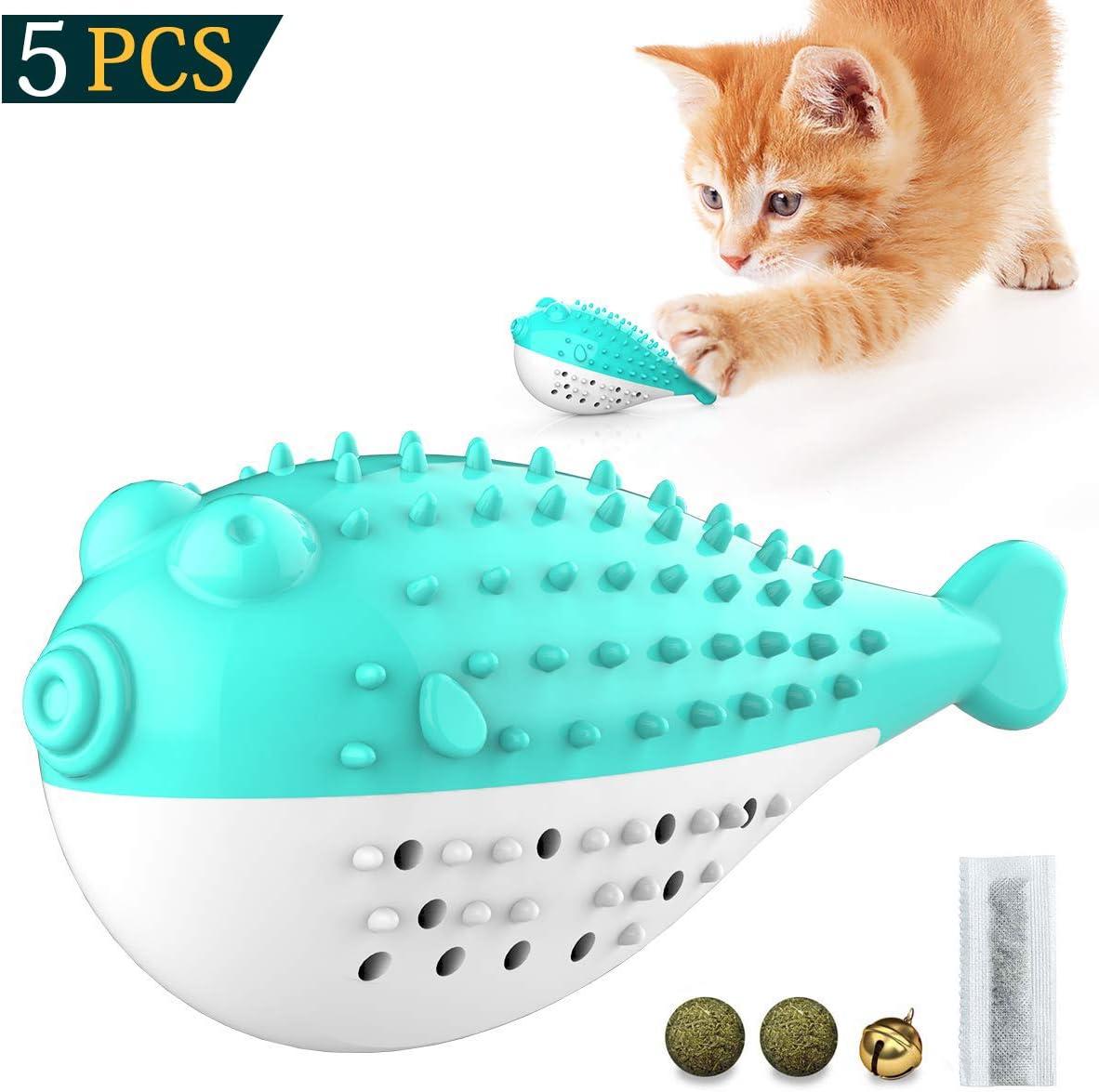 KTL Juguete para Gatos, Juguete para Masticar Gatos, Juguetes interactivos para Gatos, Cepillo de Dientes para Gatos, Juguete de Limpieza automática de Gato, Juguete de Goma para Gato o Gatito: Amazon.es: Productos