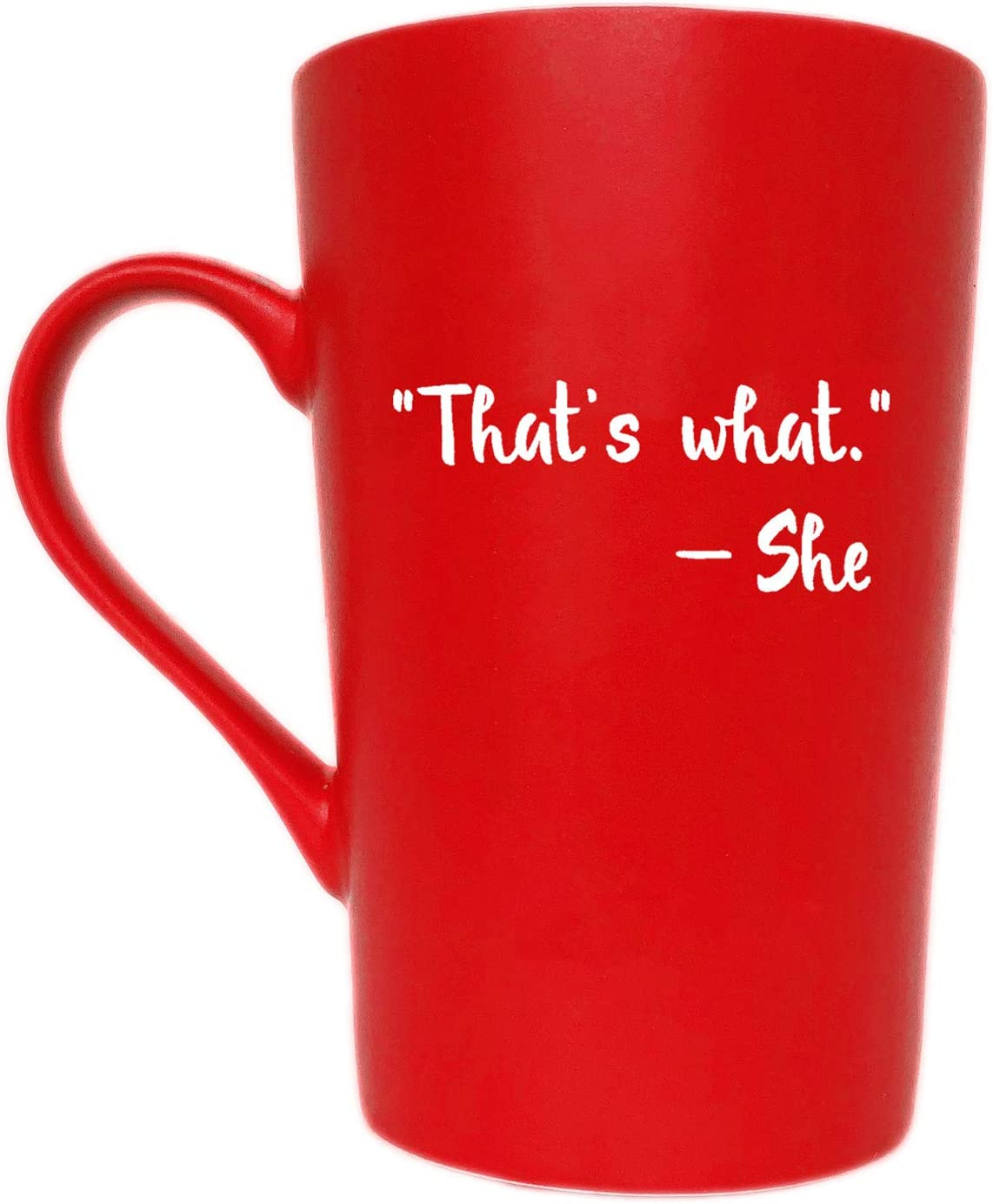 MAUAG Christmas Gifts Funny Inspirational Office Coffee Mug for Friend Coworker, That's What She Cute Present Fun Cup Red, 12 Oz