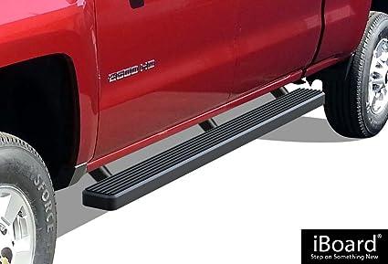 Chevy Silverado Side Steps >> Aps Ibcz5998 Black 4 Running Board Side Step Iboard Third Generation For Selected Chevy Silverado Gmc Sierra Crew Cab Aluminum