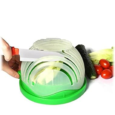 American Posh Dealer 1 12, 60 Second Salad Maker Fast Fruit Vegetable Cutter Bowl, 1