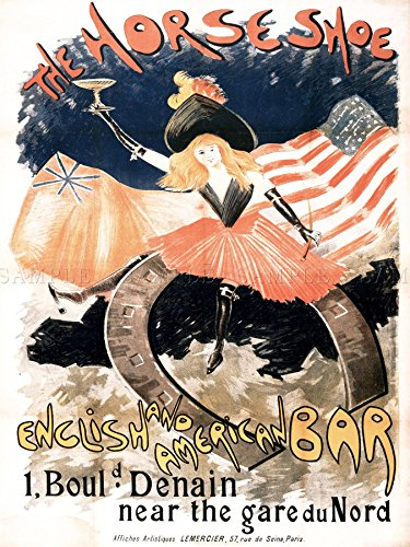 Doppelganger33 Ltd Ad Vintage Abel-truchet Horseshoe English American Bar Paris Canvas Art Print