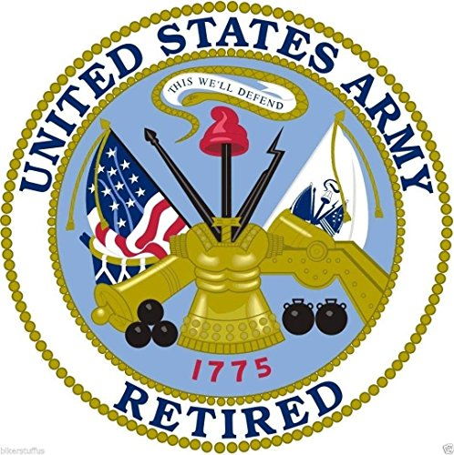 (MFX Design Us Army Retired Toolbox Sticker Decal Laptop Sticker Decal Hardhat Sticker Decal Vinyl - Made in USA 3 in. Round)
