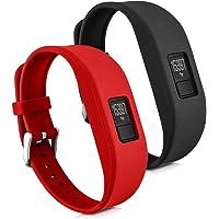 kwmobile Garmin Vivofit 3 armband S - 2X siliconen fitnesstracker sportarmband voor Garmin Vivofit 3