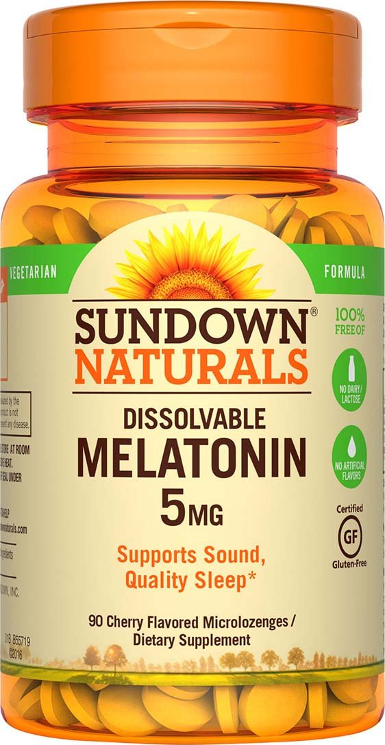 Sundown Naturals Melatonin 5 mg, 90 Quick Dissolve Microlozenges