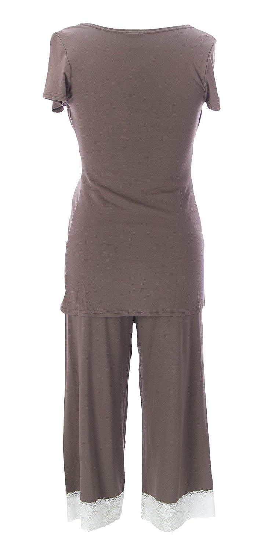 b77b1218e4 9Fashion Maternity Women s Lebby 2-Piece Nursing Pajama Set