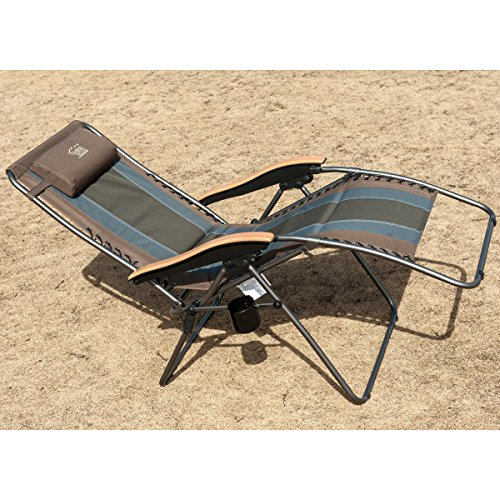 Timber Ridge Oversized XL Padded Zero Gravity Chair Supports 350lbs ...