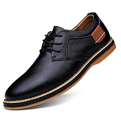 a0d243ad4c Casual Mens Dress Shoes Black Dress Shoes for Men Oxford Sneakers Business Casual  Shoes Cow Leather