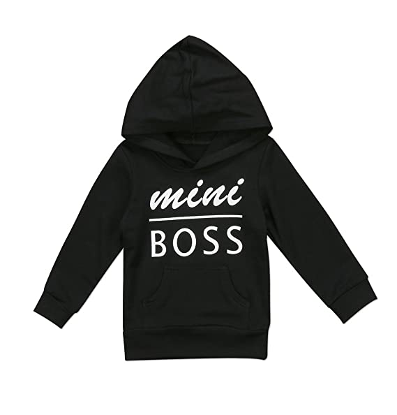 99aced1a1 Amazon.com  Urkutoba 0-5T Baby Boy Girl Mini Boss Hoodie Tops ...