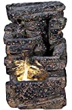 Harmony Fountains 11″ Veyo Waterfall Rock Fountain w/LED Light: Lava Rock Indoor/Outdoor Water Feature for Tabletops, Gardens & Patios. Hand-Crafted Design. Adjustable Pump. HF-R22-11LT Review